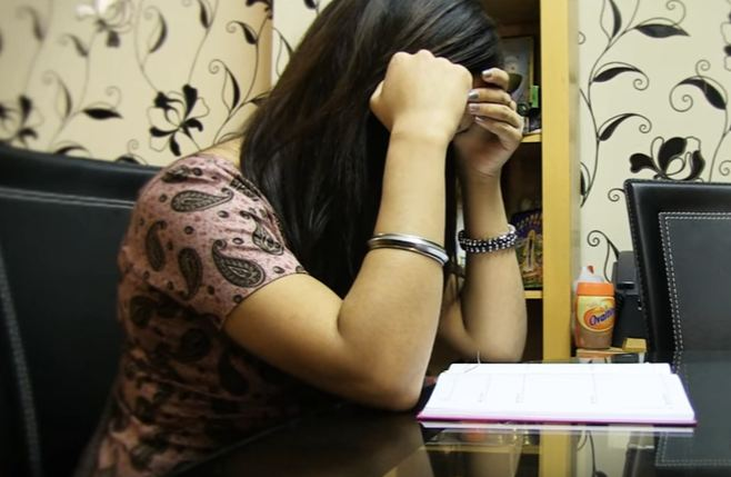 Sikh Helpline girl crying
