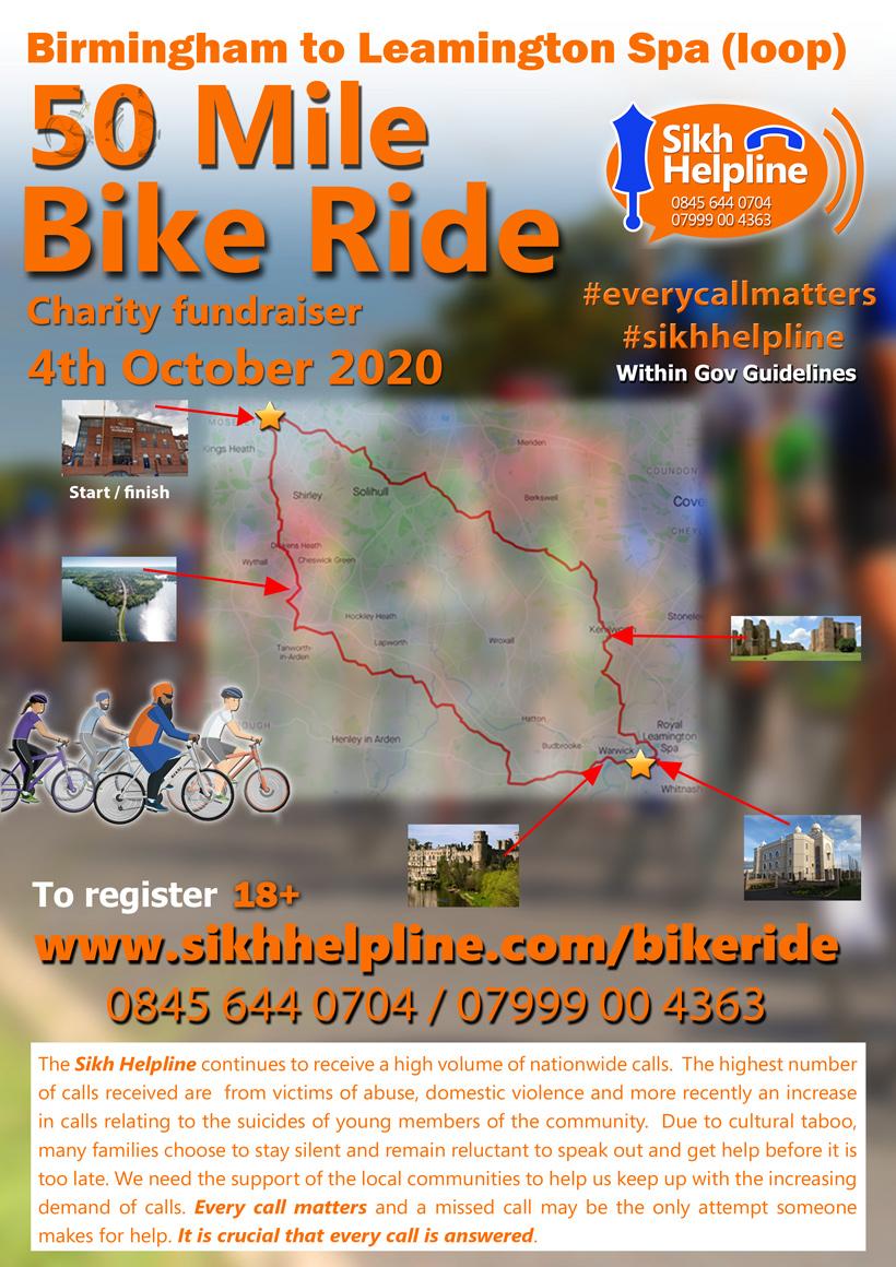 Sikh Helpline 50 Mile bikeride