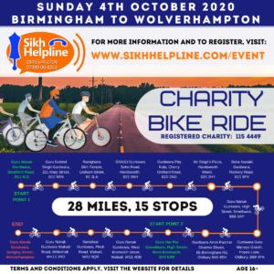 Sikh helpline Bikeride 2020