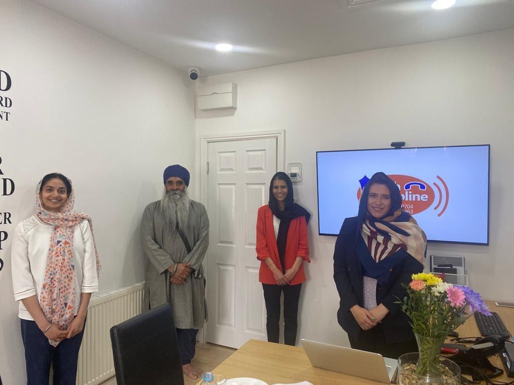 Sikh Helpline Staff with MP